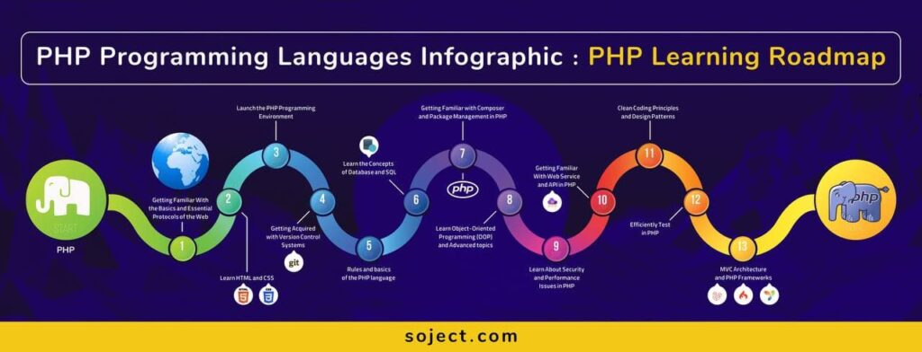 PHP Programming Languages Infographic